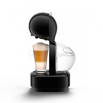 Lumio Automatic Black Coffee Machine by Krups