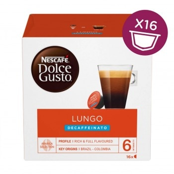 Lungo Decaf Coffee With Red Box