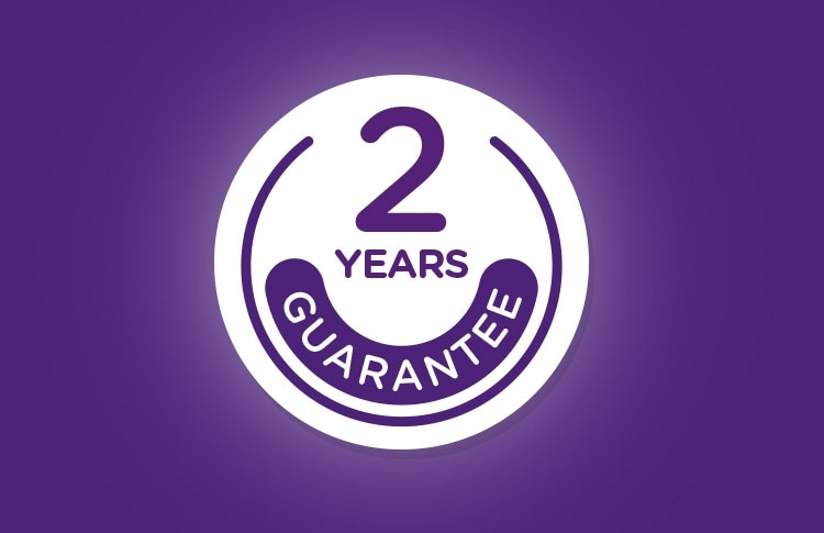 2 Years Guarantee