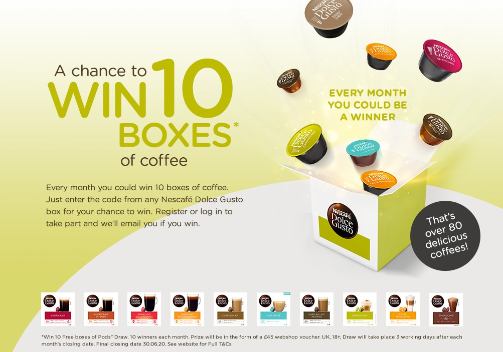 WIN 10 Boxes of Coffee