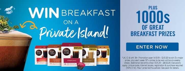 Win Breakfast on a Private Island